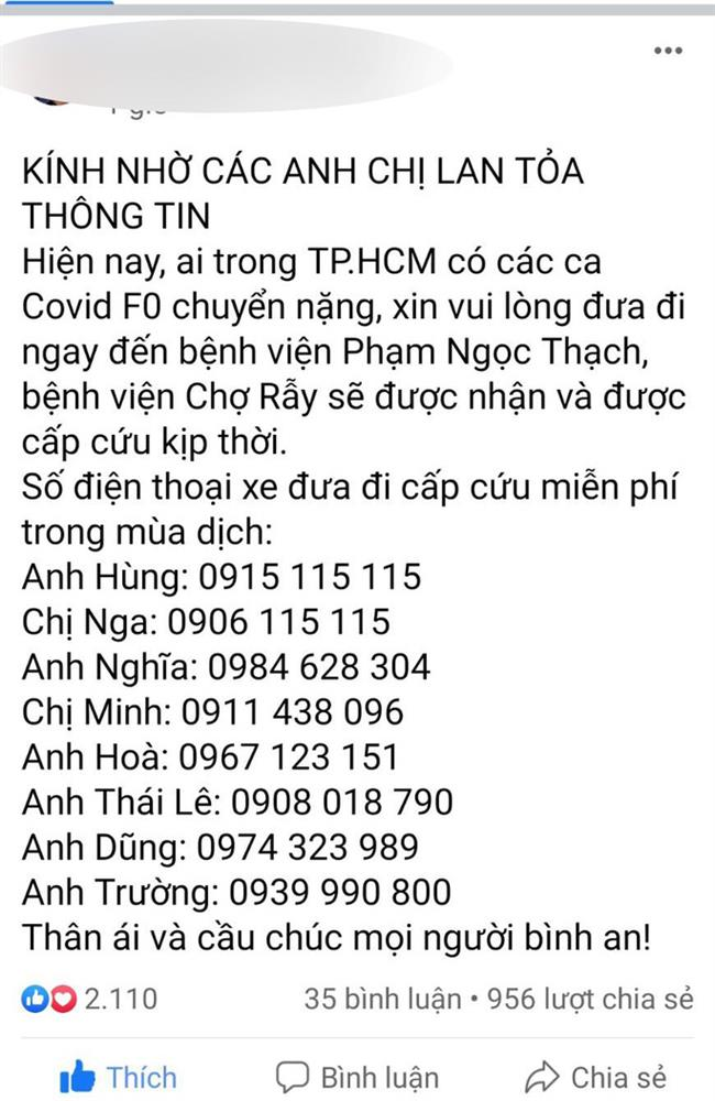 Sự thật về 8 số điện thoại hỗ trợ cấp cứu bệnh nhân Covid-19 ở TP.HCM-1