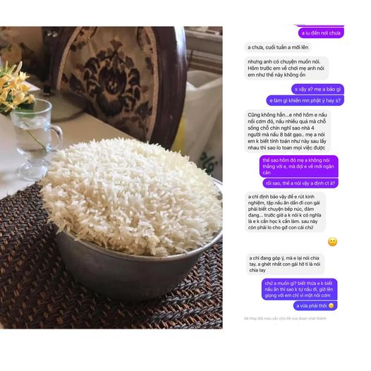"""Tiểu thư đảm đang"""" nấu 8 bát gạo cho 4 người ăn, thành thẩm là một nồi cơm ú ụ khiến cả nhà người yêu… hết hồn trong ngày về ra mắt-1"""