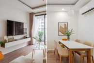 Căn hộ chung cư phong cách tối giản với tone màu trắng kem đầy ấn tượng, sạch sẽ tươm tất mà không kém phần sang chảnh