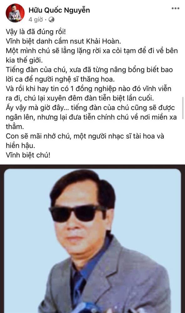 Diễn viên Gia Đình Là Số 1 cùng cả dàn sao Việt xót xa nói lời tiễn biệt thêm 1 nghệ sĩ qua đời vì Covid-19-1