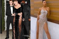 Bà xã Justin Bieber mặc đầm xẻ hiểm hóc, khiến chồng phải che chắn liên tục nhưng vẫn chưa là gì với Á hậu nóng bỏng Vbiz