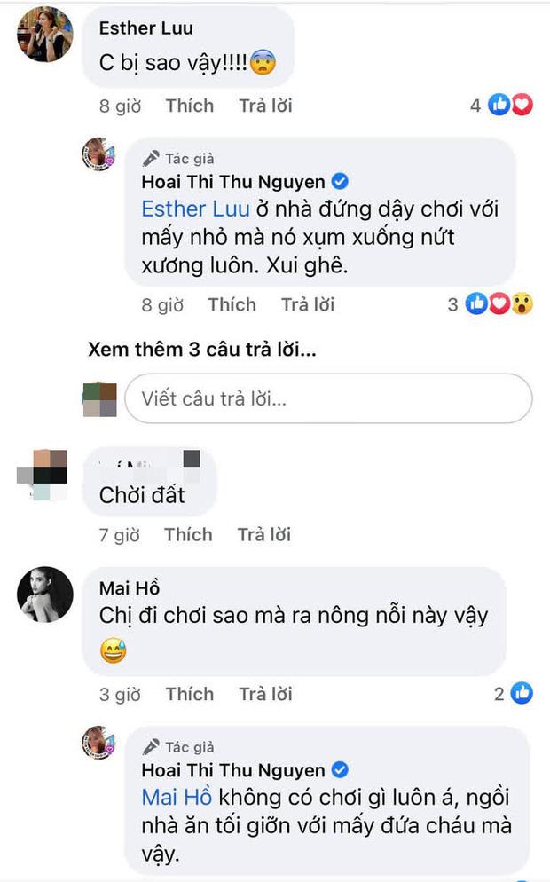 Hoa hậu Thu Hoài gặp chấn thương nghiêm trọng ở Mỹ, Hari Won - Mai Hồ cùng dàn sao Việt đồng loạt lo lắng hỏi thăm-2