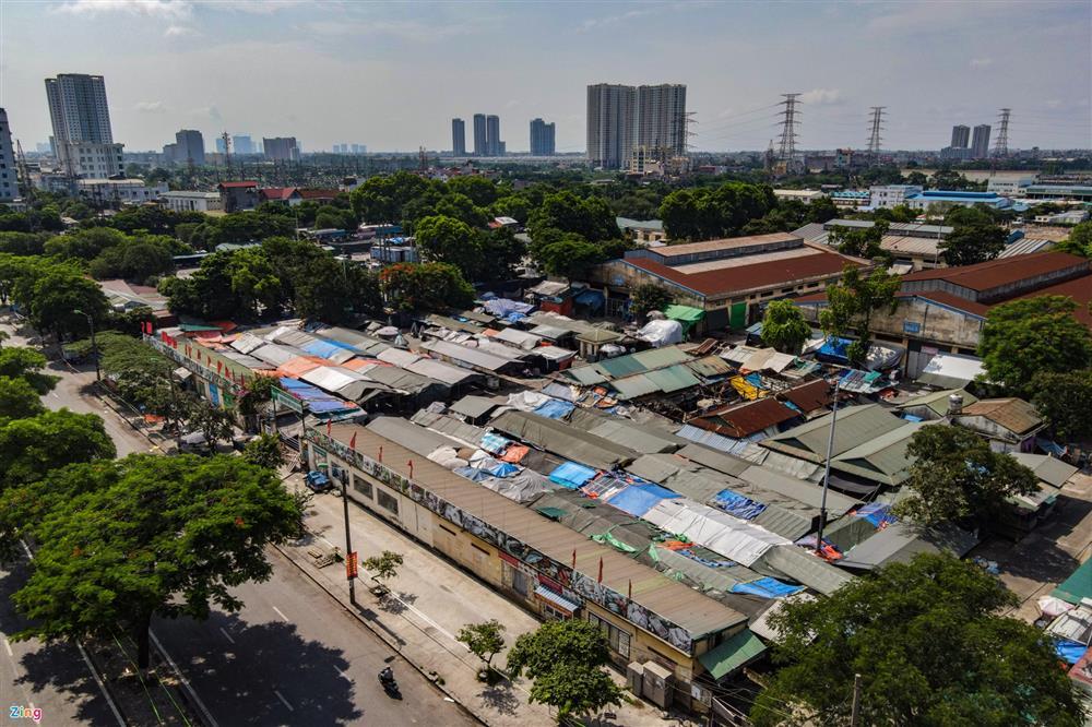 Nhiều chợ ở Hà Nội bị phong tỏa vì dịch Covid-19-1