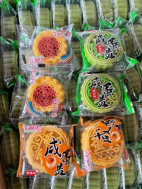 Bất ngờ bánh trung thu mini Trung Quốc bán đầy chợ với giá chỉ từ 3.000 đồng/chiếc-1