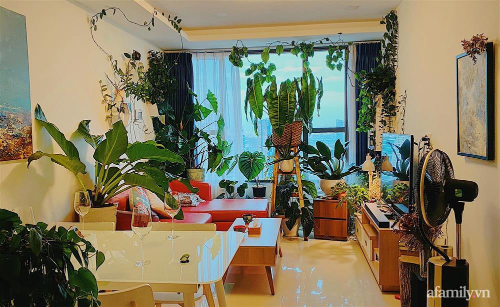 Căn hộ trên tầng cao xanh mát ấn tượng với đủ loại cây nhiệt đới của chàng trai Sài Gòn-1
