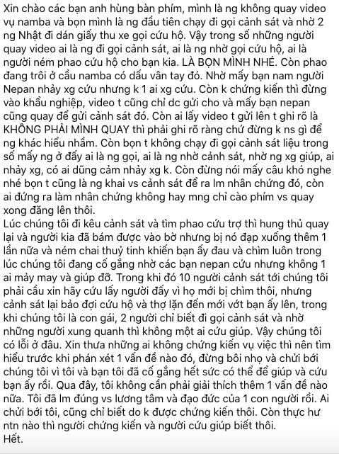 Cô gái bị tố đứng quay clip du học sinh Việt ở Osaka đã khóa Facebook chính nhưng lại lập tài khoản phụ để tiếp tục thanh minh?-2