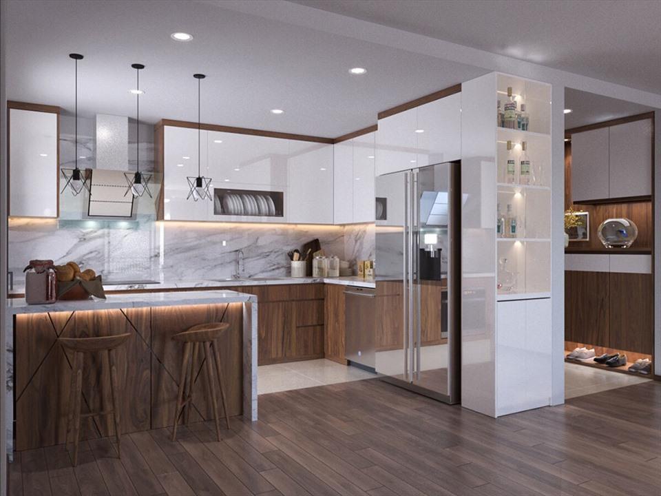 Những mẫu thiết kế phòng bếp độc đáo được ưa chuộng năm 2021-7
