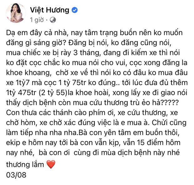 Giao xe cứu thương 2,55 tỷ cho ông Đoàn Ngọc Hải, NS Việt Hương phải lên tiếng cực căng vì bị chỉ trích nặng nề-2