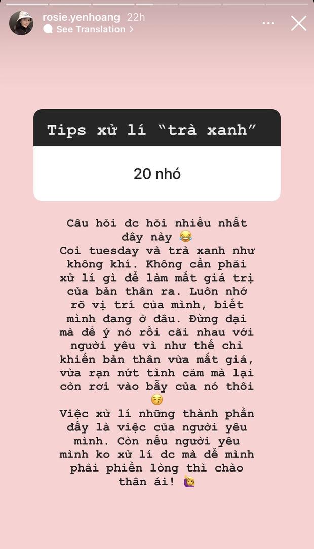 Tiểu thư sinh năm 2000 của hội rich kid Việt tiết lộ chiêu xử lý khi gặp phải trà xanh và Tuesday-2