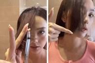 Tự cắt mái layer chỉ trong 3 bước, Minh Hằng khoe tóc mới sang chảnh không thua gì kiểu tóc 'thiên thần' ngày trước