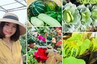 Vườn rau mùa dịch vạn người mê của cô gái Hà thành: Cao tít trên sân thượng mà đa dạng, tươi tốt đến bất ngờ, thứ gì cũng có!