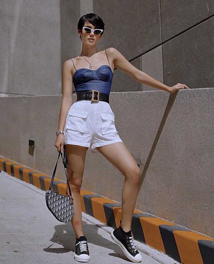 Tips mix quần short cạp cao chất như dàn fashionista Việt-4