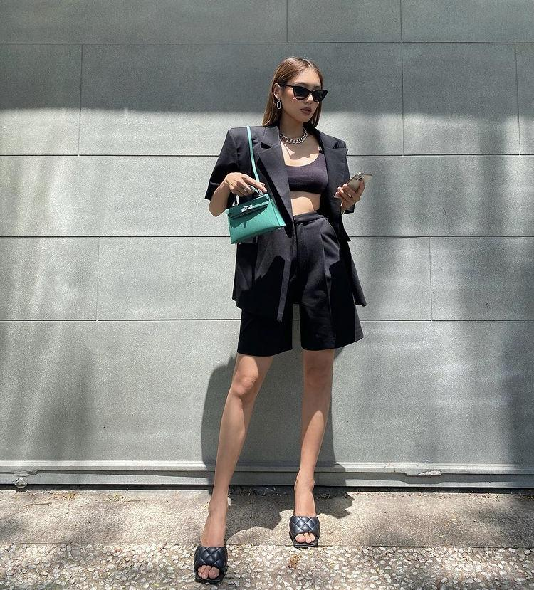 Tips mix quần short cạp cao chất như dàn fashionista Việt-7