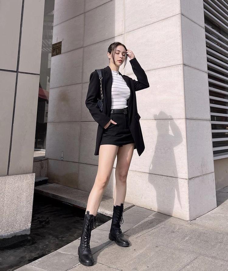 Tips mix quần short cạp cao chất như dàn fashionista Việt-9