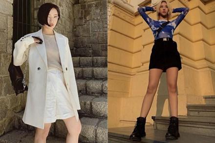 Tips mix quần short cạp cao 'chất' như dàn fashionista Việt