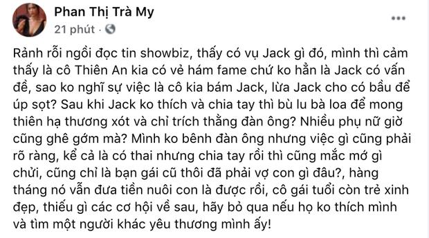 1 nữ diễn viên Vbiz gây phẫn nộ khi ám chỉ Thiên An úp sọt, lừa dính bầu để lừa bám lấy Jack?-1