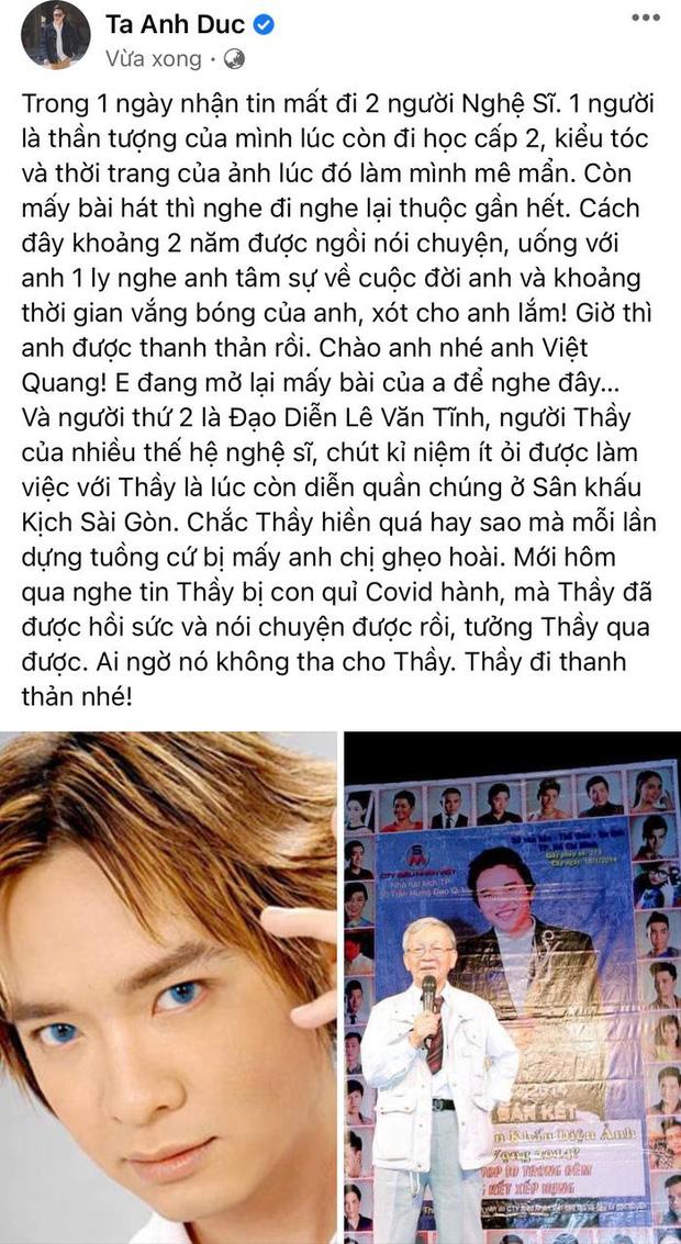 Đạo diễn Lê Văn Tĩnh qua đời sau thời gian điều trị Covid-19, 2 thành viên trong gia đình đều đang nhiễm bệnh-5