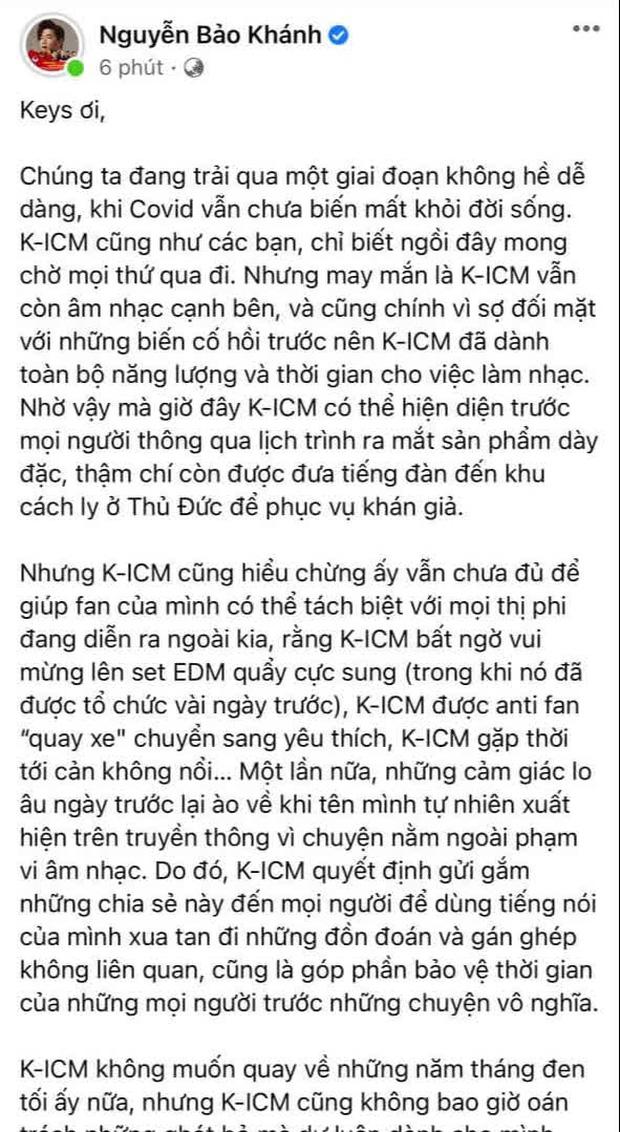 K-ICM đăng tâm thư nửa đêm giữa lúc bị cuốn vào scandal của Jack: Không muốn quay về những năm tháng đen tối đó nữa-1