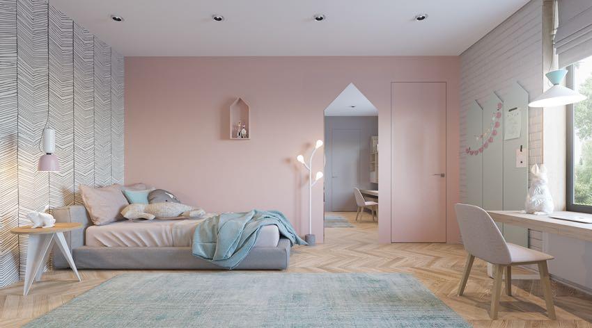 Phòng ngủ đơn ngọt ngào theo phong cách Macaron, nhẹ nhàng mà thư thái-4