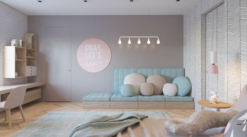 Phòng ngủ đơn ngọt ngào theo phong cách Macaron, nhẹ nhàng mà thư thái-2