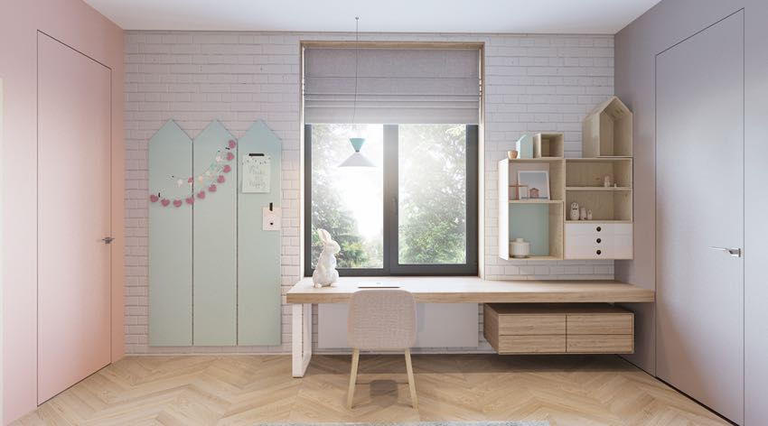 Phòng ngủ đơn ngọt ngào theo phong cách Macaron, nhẹ nhàng mà thư thái-3