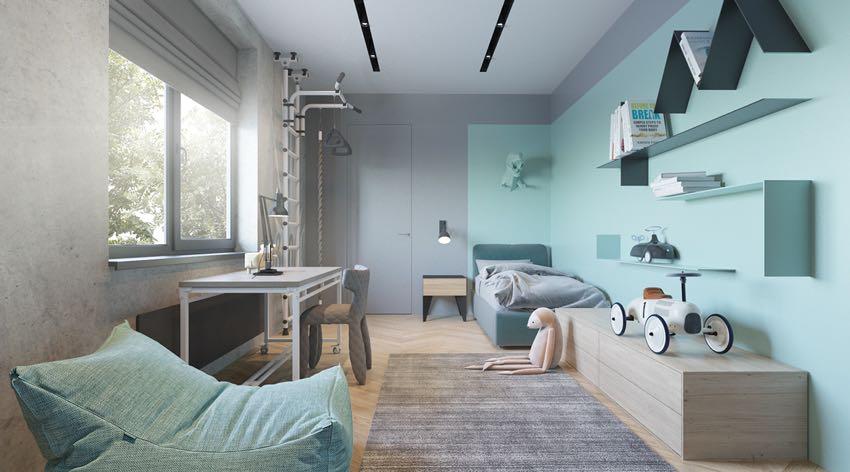 Phòng ngủ đơn ngọt ngào theo phong cách Macaron, nhẹ nhàng mà thư thái-5