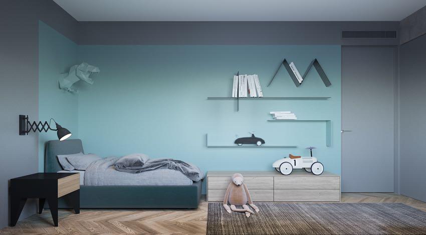 Phòng ngủ đơn ngọt ngào theo phong cách Macaron, nhẹ nhàng mà thư thái-6