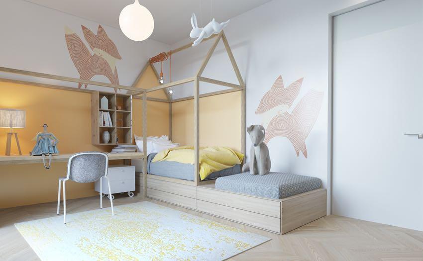 Phòng ngủ đơn ngọt ngào theo phong cách Macaron, nhẹ nhàng mà thư thái-1