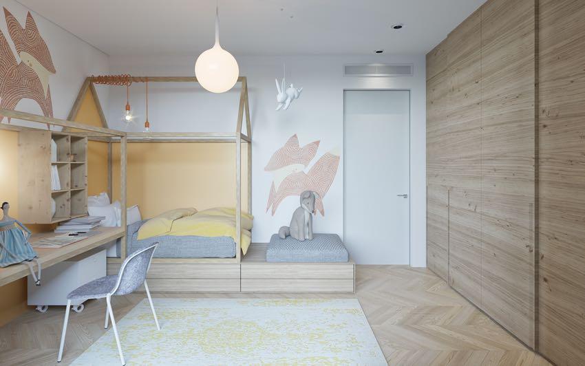 Phòng ngủ đơn ngọt ngào theo phong cách Macaron, nhẹ nhàng mà thư thái-13
