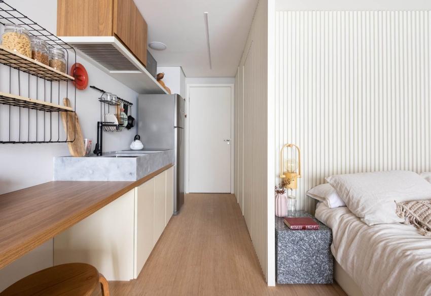 Căn hộ cho thuê nhỏ xinh nhưng vô cùng đáng yêu, thiết kế nhẹ nhàng mà tiện dụng, chỉ nhìn thôi đã muốn dọn luôn vào ở-4
