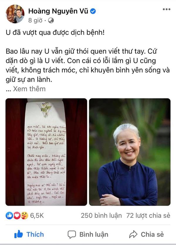 """Con trai nghệ nhân ẩm thực Nguyễn Dzoãn Cẩm Vân cho biết mẹ mình từng nhiễm Covid-19 nửa đêm bật dậy ló đầu ra cửa sổ để thở, sáng ra ăn cả nắm ớt không thấy cay""""-1"""