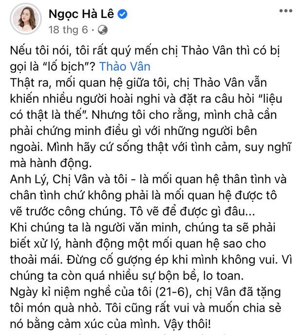 MC Thảo Vân gửi một thứ đến cho bà xã kém 15 tuổi của chồng cũ, hé lộ mối quan hệ thật sự không phải ai cũng có được!-3