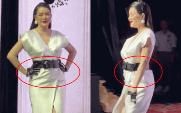 Lý Nhã Kỳ bị chê catwalk như đi chợ, chiếc váy phản chủ khiến cô trông như đang mang thai-2