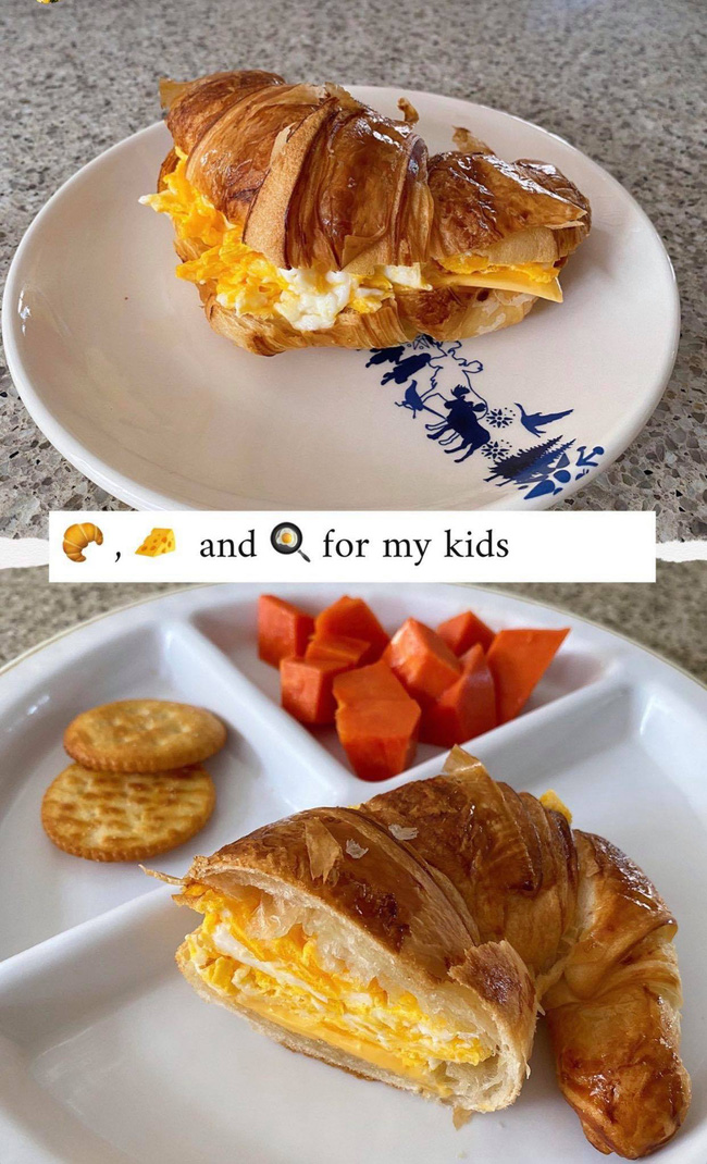 Tăng Thanh Hà làm bữa sáng cho hai con, trông sang chảnh mà đơn giản bất ngờ-1