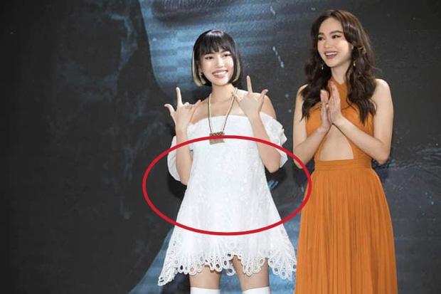 Giữa tin đồn sinh con, lại rộ thêm hình ảnh nghi Diệu Nhi mặc váy rộng che bụng to rõ khi đi sự kiện hồi tháng 5?-1