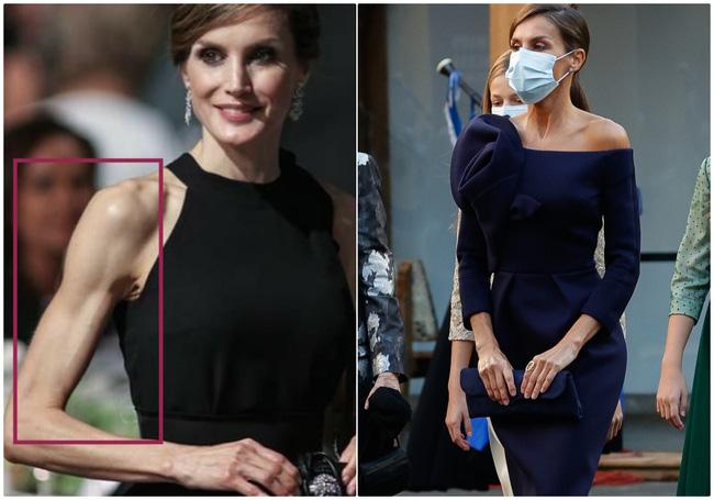 Hoàng hậu Tây Ban Nha nhiều lần diện đầm lộ vai gân guốc thô cứng, còn đâu là biểu tượng mặc đẹp hơn Kate-11