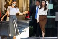 Street style của Angelina Jolie hóa ra đậm chất công sở, toàn những items tối giản nhưng đẳng cấp ngút ngàn