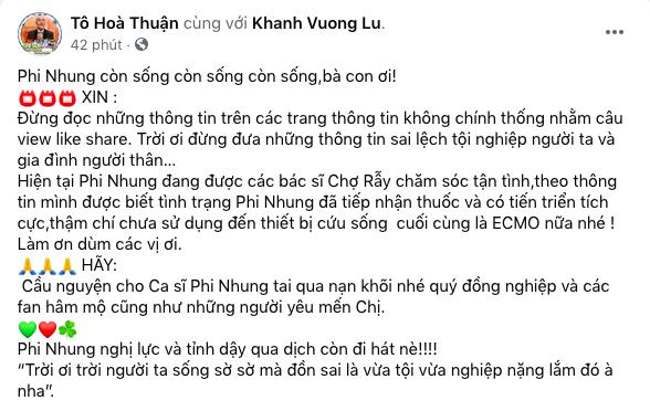 Nam diễn viên Quốc Thuận bác bỏ tin đồn nữ ca sĩ Phi Nhung qua đời vì Covid 19-2