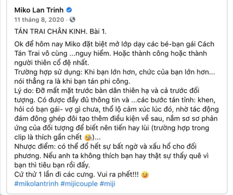 Miko Lan Trinh chính thức lên tiếng làm rõ nghi vấn giật bồ, khẳng định tin tưởng ở bạn trai chuyển giới-3