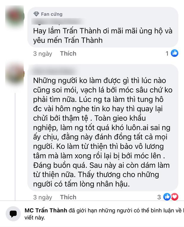 Động thái của Trấn Thành giữa lúc bị netizen tổng tấn công vì ai đó gọi tên, yêu cầu sao kê tiền quyên góp từ thiện-5