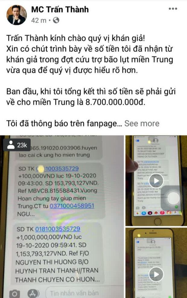 Netizen tổng tấn công đòi sao kê từ thiện, phát ngôn của Trấn Thành hot lại: Phải giải trình thì thà tụi em không làm, đó không phải nhiệm vụ-5