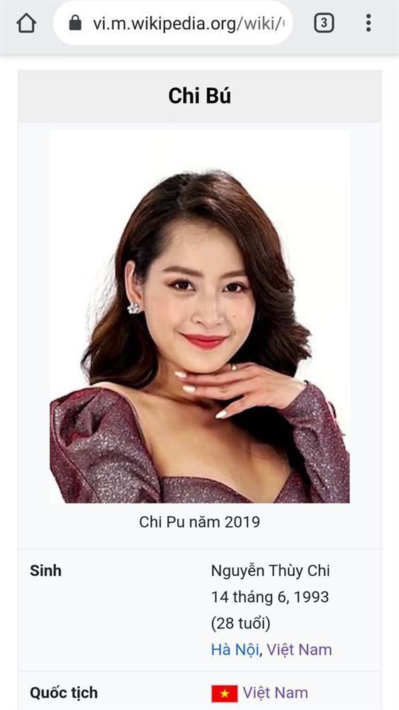 Đang yên đang lành, Chi Pu bất ngờ bị đổi nghệ danh thô tục trên Wikipedia-1