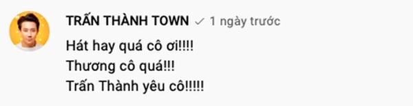 Netizen lại ùa vào đòi sao kê khi thấy Trấn Thành bình luận dưới kênh YouTube của danh ca Hoàng Oanh-2