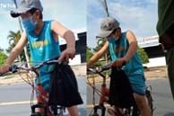 Cậu bé đạp xe xin qua chốt để đưa đồ cho ngoại, khi được hỏi 'mẹ đâu' em cúi mặt trả lời một câu khiến tất cả nghẹn ngào