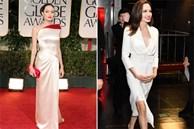 Trắng đúng là màu tương sinh của Angelina Jolie, hèn gì cô cứ diện là tỏa sáng như sao