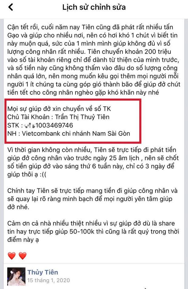 Netizen soi Thuỷ Tiên sử dụng 3 số tài khoản ngân hàng kêu gọi từ thiện nhưng chỉ sao kê 1, thực hư là gì?-3