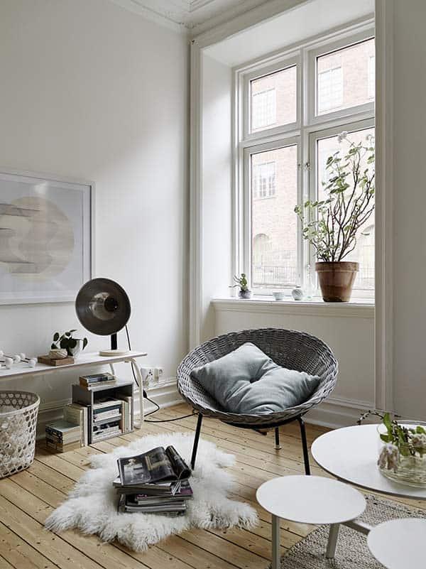 Căn hộ 1 phòng ngủ với thiết kế sàn mở tận dụng được tối đa không gian, đem lại cảm giác vừa rộng rãi vừa ấm áp và vô cùng tiện dụng-1