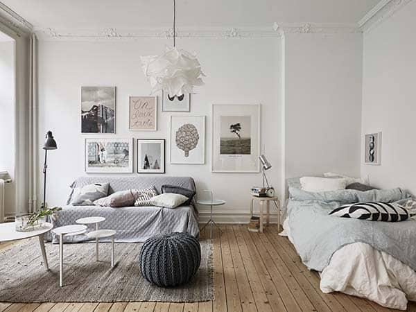 Căn hộ 1 phòng ngủ với thiết kế sàn mở tận dụng được tối đa không gian, đem lại cảm giác vừa rộng rãi vừa ấm áp và vô cùng tiện dụng-2