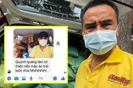 MC Quyền Linh gây xúc động với hình ảnh mặc áo trái vì vội đi làm từ thiện