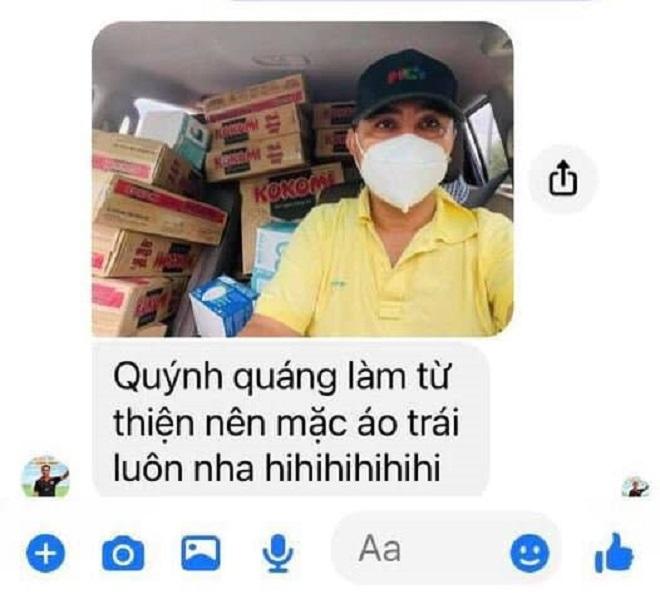 MC Quyền Linh gây xúc động với hình ảnh mặc áo trái vì vội đi làm từ thiện-2
